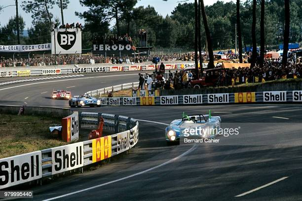 Henri Pescarolo MatraSimca MS670 24 Hours of Le Mans Le Mans 11 June 1972 Henri Pescarolo winner of the 1972 24 Hours of Le Mans ahead of teammate...