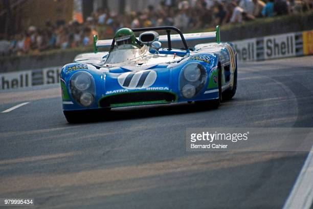 Henri Pescarolo MatraSimca MS670B 24 Hours of Le Mans Le Mans 10 June 1973 Henri Pescarolo on the way to victory in the 1973 24 Hours of Le Mans