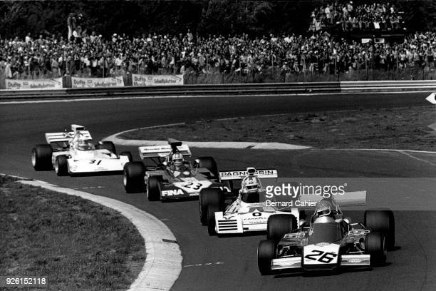 Henri Pescarolo, Rolf Stommelen, Mike Hailwood, Jochen Mass, Iso-Marlboro-Ford FX3B IR, Brabham-Ford BT42, Surtees TS14A,, Grand Prix of Germany,...