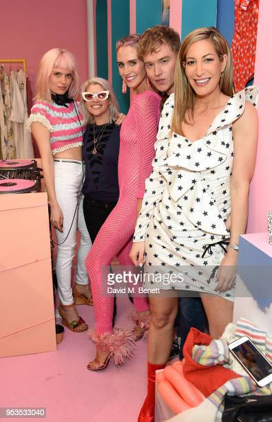 Henri Pips Taylor Belma Gaudio Fletcher Cowan and Laura Pradelska attend the Koibird store launch on May 1 2018 in London England