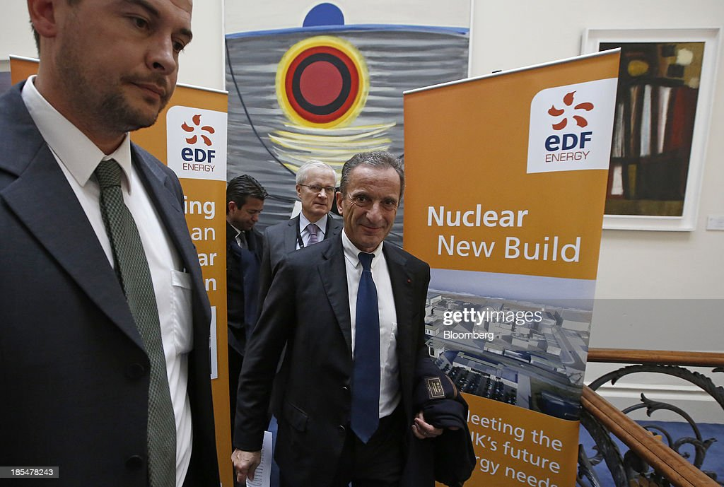 EDF SA News Conference As U.K. Government Announce French Company To Build Nuclear Power Station
