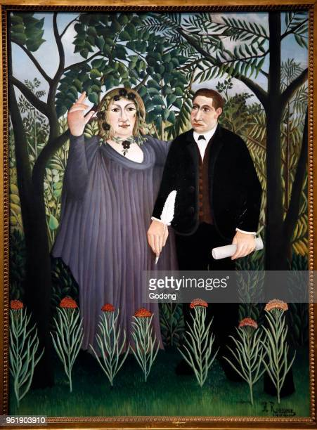 Henri Rousseau The poet and his muse paris oil on canvas Shchukin Collection Pushkin Fine Art Museum Moskow Shot while exhibited in Paris France