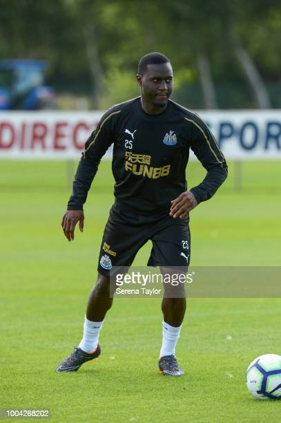 Henri Saivet controls the ball during the Newcastle United Training Session at the Newcastle United Training Centre on July 23 in Newcastle upon Tyne...
