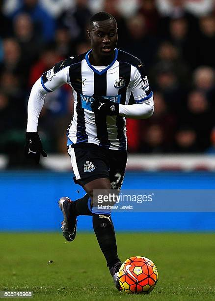 Henri Saivet of Newcastle United in action during the Barclays Premier League match between Newcastle United and West Ham United at St James' Park on...