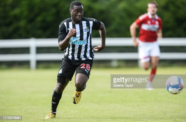 Henri Saivet of Newcastle United runs to the ball during the Pre Season Friendly between Newcastle United and Middlesbrough FC at the Rockliffe Park...