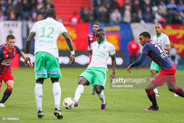 Henri Saivet of SaintEtienne during the Ligue 1 match between SM Caen and AS SaintEtienne at Stade Michel D'Ornano on October 23 2016 in Caen France
