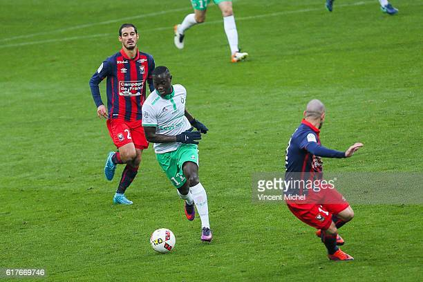 Henri Saivet of Saint-Etienne during the Ligue 1 match between SM Caen and AS Saint-Etienne at Stade Michel D'Ornano on October 23, 2016 in Caen,...