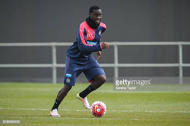 Henri Saivet runs with the ball during the Newcastle United Training session at The Newcastle United Training Centre on May 6 in Newcastle upon Tyne...