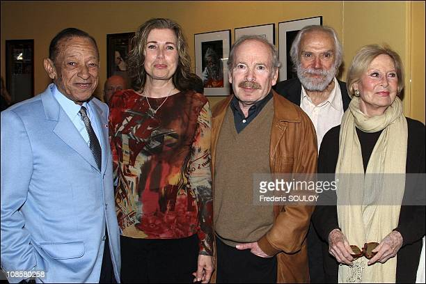 Henri Salvador Catherine Alric Popek Georges Moustaki and Michele Morgan in MarlyleRoi France on April 03 2006