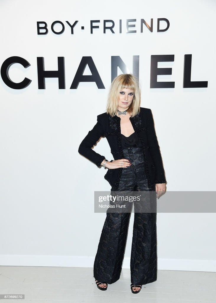 DJ Henri, wearing CHANEL, attends as CHANEL celebrates the launch of the Coco Club, a Boy-Friend Watch event at The Wing Soho on November 10, 2017 in New York City.