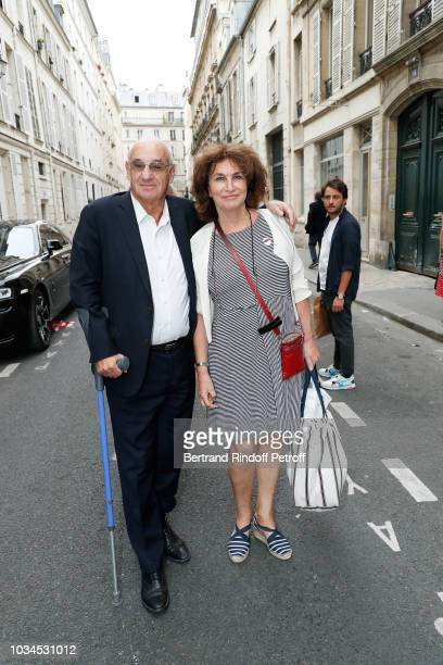 Henri Weber and Fabienne Servan Schreiber attend Marek Halter celebration of Rosh Hashanah on September 16 2018 in Paris France