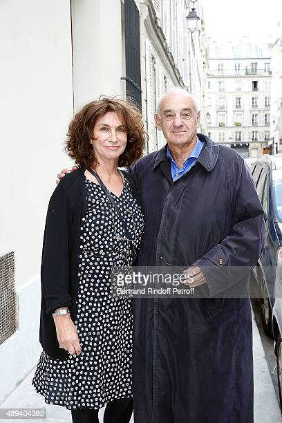 Henri Weber and his wife Fabienne ServanSchreiber attend the Marek Halter Celebrates Rosh Hashanah In Paris on September 20 2015 in Paris France