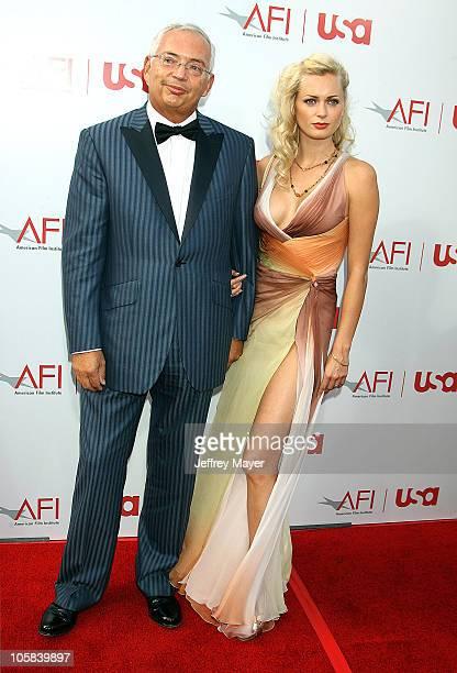 Henri Zimand and Anouska De Georgiou during 34th AFI Life Achievement Award Honoring Sir Sean Connery Arrivals at Kodak Theatre in Hollywood...