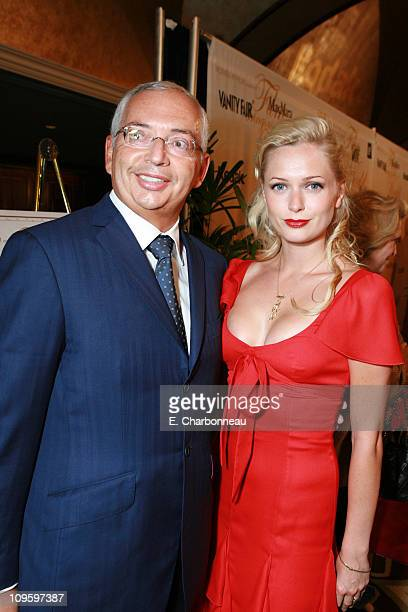 Henri Zimand and Anouska De Georgiou during Women In Film presents FILM BRINGS US THE WORLD The 2006 Crystal Lucy Awards at The Century Plaza Hotel...