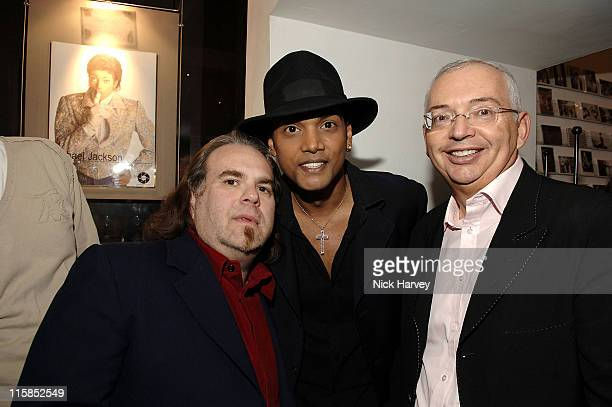 Henri Zimand Harrison Funk and Navi during Henri Zimand and His Charity Anda's Spirit Sponsor Michael Jackson Art Exhibition at Proud Gallery in...