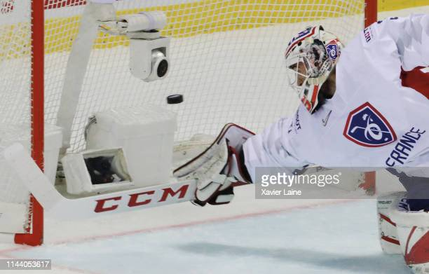 Henri-Corentin Buysse of France in action during the 2019 IIHF Ice Hockey World Championship Slovakia group A game between Canada and France at Steel...