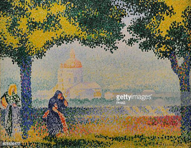 HenriEdmond Cross French painter Pointillism Church of Santa Maria degli Angely Near Assisi 1909 Oil on canvas The State Hermitage Museum Saint...