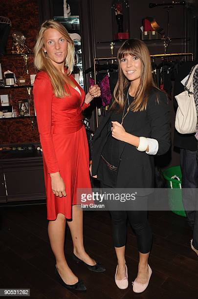 Henrietta ClarkeHall and Georgina Templeman attend private view of Coco De Mer And John Stoddart Love And Lust at the Coco De Mer Store on September...