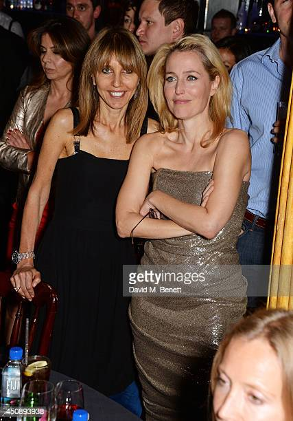 Henrietta Conrad and Gillian Anderson attend The Hoping Foundation's 'Starry Starry Night' Benefit Evening for Palestinian Refugee Children at Cafe...