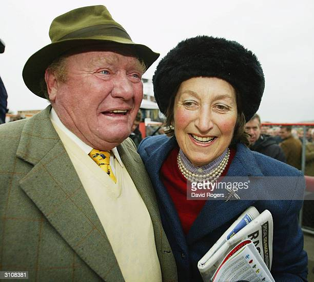 Henrietta Knight the trainer of Best Mate hugs her partner Terry Biddlecombe after Best Mate wins the Totesport Cheltenham Gold Cup held on the third...