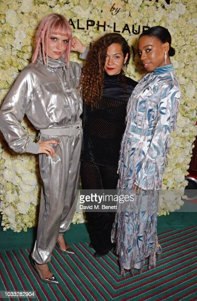 Henrietta Tiefenthaler Lily BertrandWebb and Pippa BennettWarner attend the European launch of WOMAN by Ralph Lauren hosted by Jessica Chastain at...
