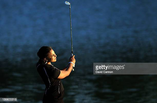 Henrietta Zuel of England during the first round of the 2011 Omega Dubai Ladies Masters on the Majilis Course at the Emirates Golf Club on December...