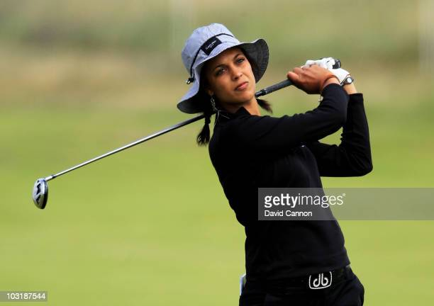 Henrietta Zuel of England hits an approach shot during the final round of the 2010 Ricoh Women's British Open at Royal Birkdale on August 1 2010 in...