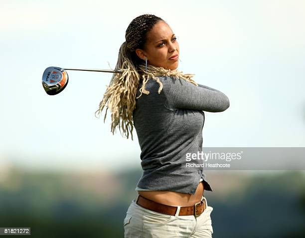 Henrietta Zuel of England in action during the first round of the Ladies English Open at The Oxfordshire golf club on July 4 2008 in Thame England