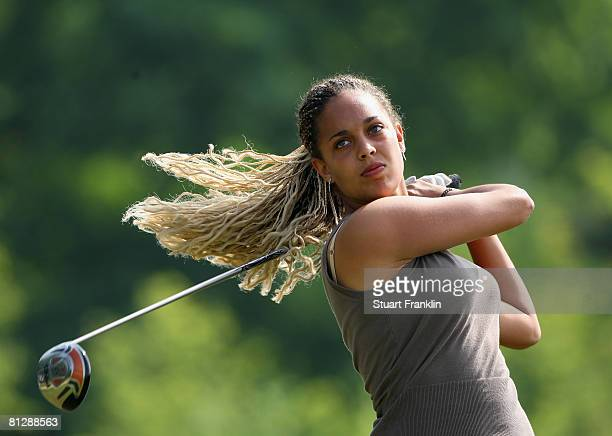 Henrietta Zuel of England plays her tee shot on the 11th hole during the second round of the Hypo Vereinsbank Ladies German Open Golf at Golfpark Gut...