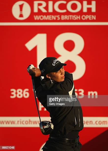 Henrietta Zuel of England tees off during the first round of the 2009 Ricoh Women's British Open Championship held at Royal Lytham St Annes Golf Club...