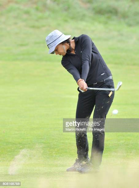 Henrietta Zuel plays off the 5th fairway during the fourth round of the Ricoh Women's British Open at the Royal Birkdale Golf Club Southport