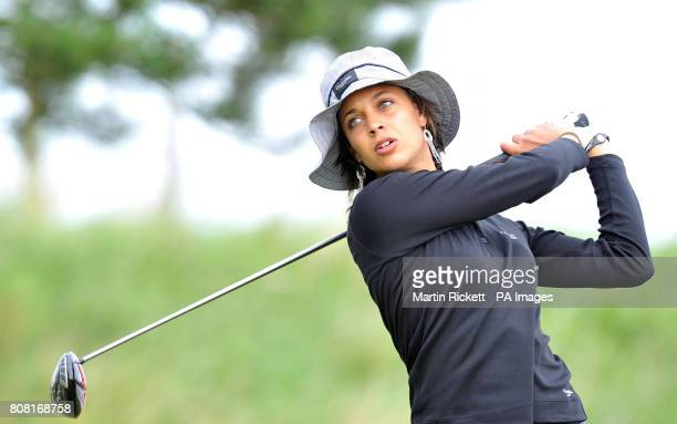 Henrietta Zuel tee's off at the 5th during the fourth round of the Ricoh Women's British Open at the Royal Birkdale Golf Club Southport