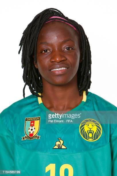 Henriette Akaba of Cameroon poses for a portrait during the official FIFA Women's World Cup 2019 portrait session at Crowne Plaza Montpellier Corum...