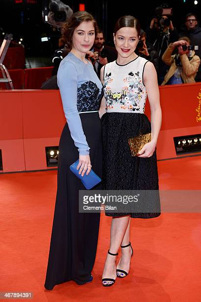 Henriette Confurius and Hannah Herzsprung attend 'Beloved Sisters' premiere during 64th Berlinale International Film Festival at Berlinale Palast on...