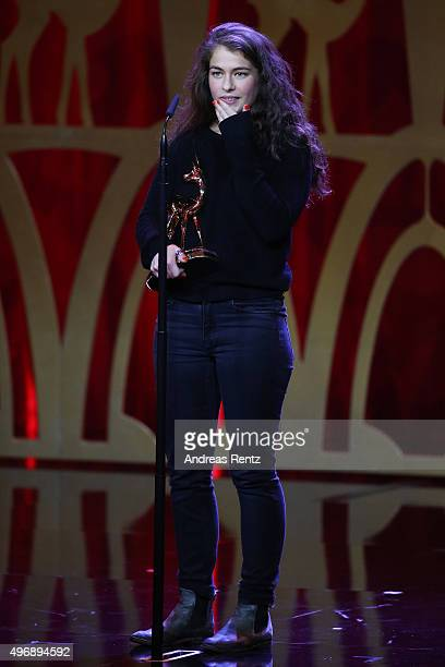 Henriette Confurius is seen on stage during the Bambi Awards 2015 show at Stage Theater on November 12 2015 in Berlin Germany
