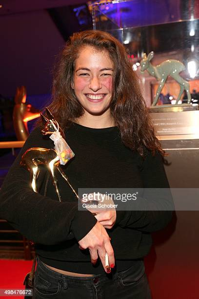 Henriette Confurius with award on stage during the Bambi Awards 2015 show at Stage Theater on November 12 2015 in Berlin Germany