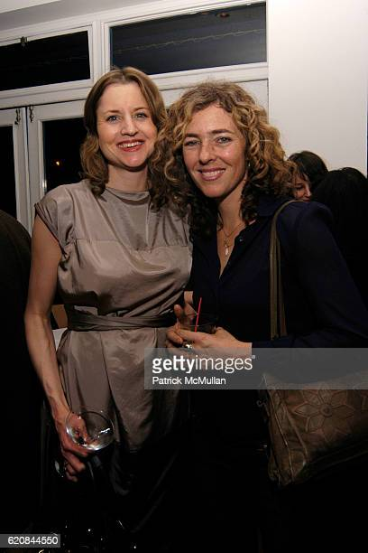 Henriette Hudlich and Stanya Kahn attend Whitney Biennial Artists Party at Trata Estiatoria on March 8 2008 in New York City