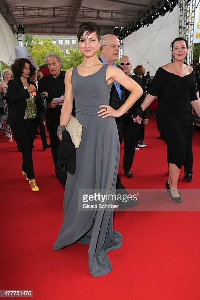 Henriette Richter-Roehl arrives for the German Film Award 2015 Lola at Messe Berlin on June 19, 2015 in Berlin, Germany.