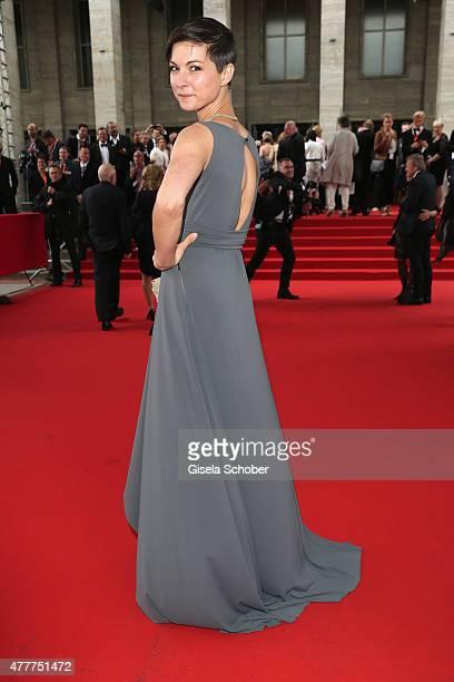 Henriette RichterRoehl arrives for the German Film Award 2015 Lola at Messe Berlin on June 19 2015 in Berlin Germany