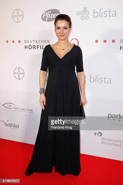 Henriette Richter-Roehl attends the Deutscher Hoerfilmpreis 2016 on March 15, 2016 in Berlin, Germany.