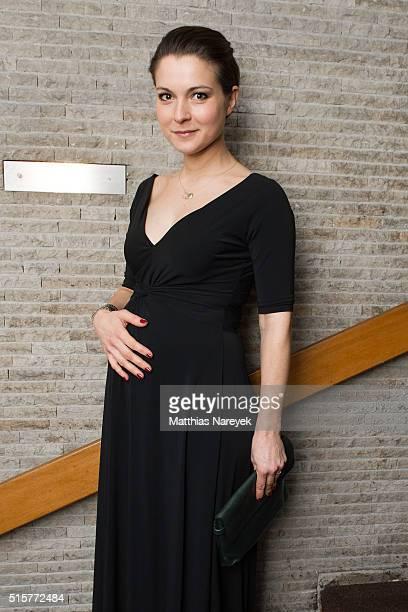 Henriette RichterRoehl attends the Deutscher Hoerfilmpreis at Kino International on March 15 2016 in Berlin Germany
