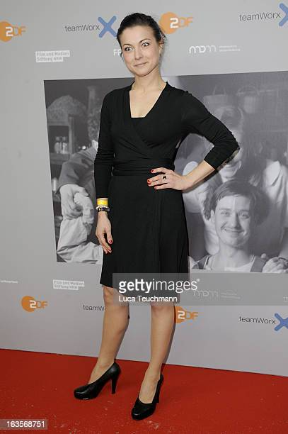 Henriette Richter-Roehl attends the Premiere of 'Unsere Muetter, Unsere Vaeter' at the Astor Film Lounge on March 12, 2013 in Berlin, Germany.