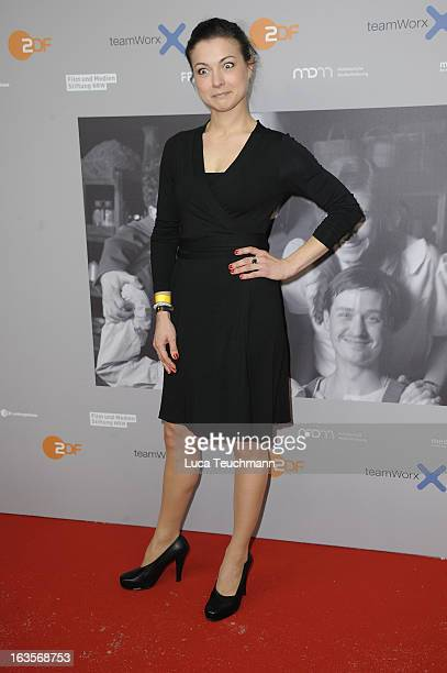 Henriette RichterRoehl attends the Premiere of 'Unsere Muetter Unsere Vaeter' at the Astor Film Lounge on March 12 2013 in Berlin Germany