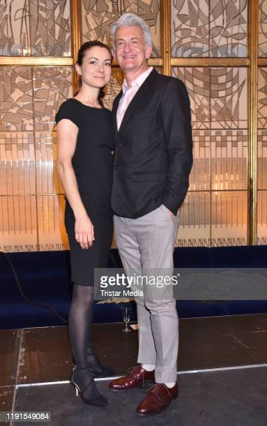 Henriette RichterRoehl Dominic Raacke during the Skylight' theater premiere at Schiller Theater on December 1 2019 in Berlin Germany