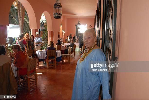 Henriette von Bohlen und Halbach Dreharbeiten zur ZDFReihe Kreuzfahrt ins Glück Folge Nr 9 Marokko Villa Bled Targui Marrakesch Marokko Nordafrika...