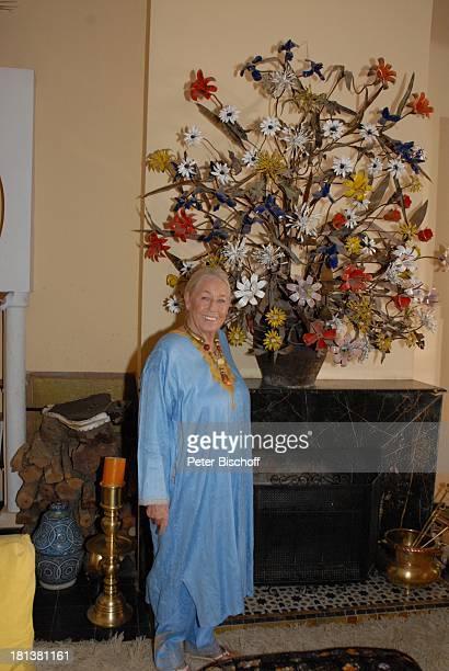 Henriette von Bohlen und Halbach Homestory Villa Bled Targui Marrakesch Marokko Nordafrika Afrika Kaftan Residenz Palast MasterSuite Kamin Adel