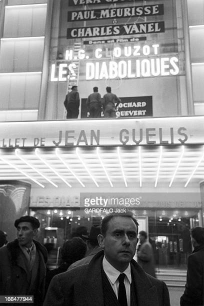 HenriGeorges And Vera Clouzot For The Release Of The Film 'Les Diaboliques' Paris 1955 HenriGeorges CLOUZOT présente 'Les Diaboliques' adapté d'un...