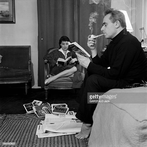 HenriGeorges And Vera Clouzot For The Release Of The Film 'Les Diaboliques' Paris 19551956 lors de la sortie du film 'Les diaboliques' de...