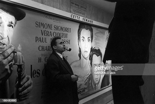 HenriGeorges And Vera Clouzot For The Release Of The Film 'Les Diaboliques' Paris lors de la sortie du film 'Les diaboliques' de HenriGeorges CLOUZOT...