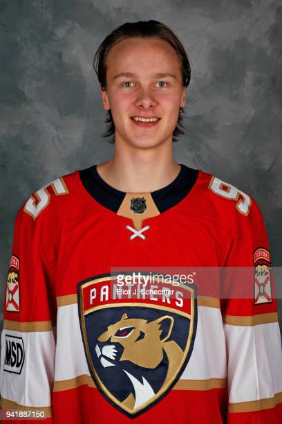 Henrik Borgström of the Florida Panthers poses for his official 20172018 headshot at the BBT Center on April 2 2018 in Sunrise Florida